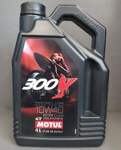 4-Litros-MOTUL-300v-4t-10w40-ACEITE-DE-MOTOR-motorradol-Road-Carreras