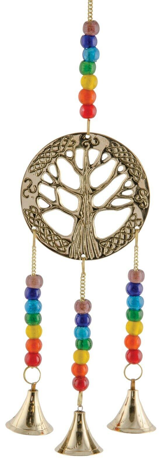 NAMASTE Fair Trade Hanging Tree of Life with Chakra Beads FAIRTRADE Boho