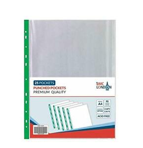 BMC-Punched-Pocket-A4-extra-strong-90-micron-Transparent-Poly-Pockets-Sleeves