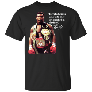 Mike-Tyson-Champion-Boxing-Legend-Logo-Mens-Gildan-Cotton-T-Shirt-Black-Tee-New