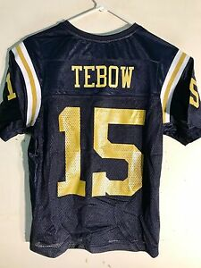 big sale 938f5 e175a Details about Reebok Women's NFL Jersey New York Jets Tebow Navy Throwback  sz M