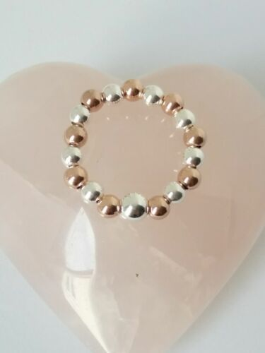 Sterling Silver /& Rose Gold Toe Ring Toe Ring! Stretch