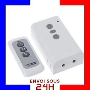 TELECOMMANDE-433-radio-sans-fil-RECEPTEUR-2-CH-volet-roulant-store-banne-220V