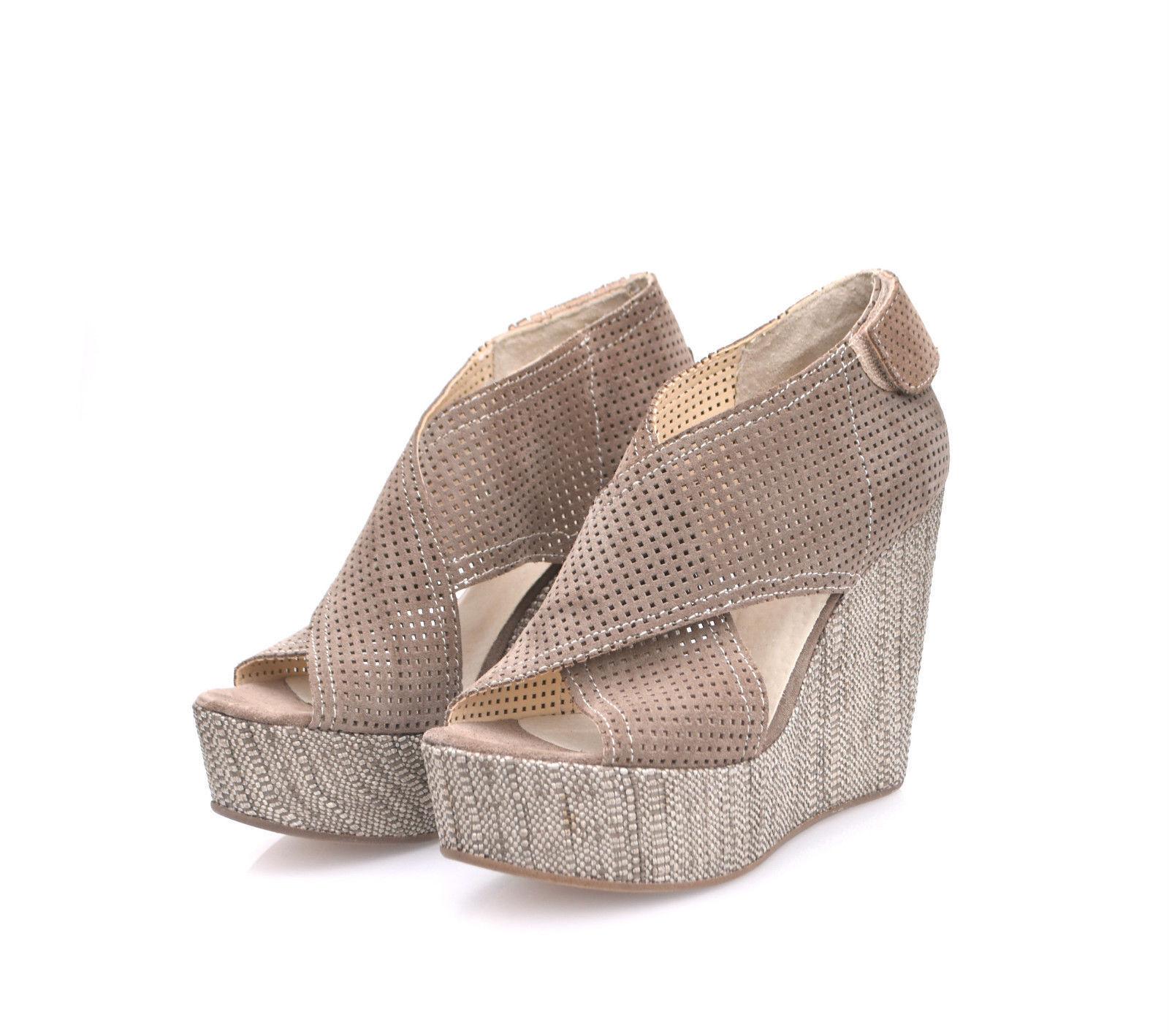 DIVINE FOLLIE Sandalen mit Keilabsatz Platform Wedge Sandals Beige