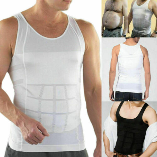 Men Ultra Lift Body Slimming Shaper Tummy Fat Burner Tank Tops Vest