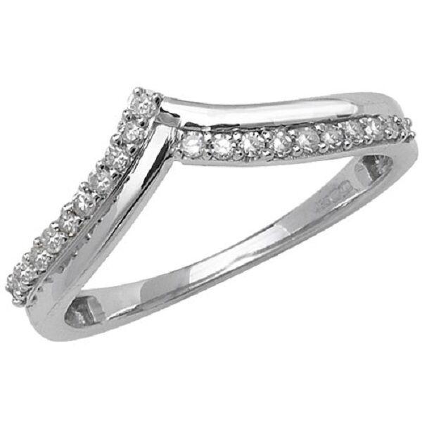 9ct white gold Diamond wishbone engagement ring RD568W jewellery company