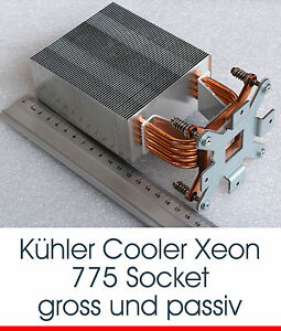 PASSIVER-KUHLER-COOLER-KUPFERPLATTE-FUR-CPU-INTEL-SOCKET-775-V26898-B854-V1-S6