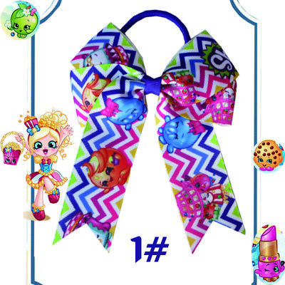 """Double Cheer Leader Bow Elastic 14 BLESSING Happy Girl Hair Accessories 4.5/"""" B"""
