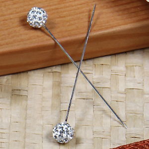 Bouquet Pins Corsage Wedding ROUND BALL Design Rhinestone Choose Pack Amount
