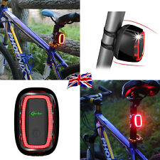 UK New Meilan X6 Smart Bike Tail LED Flashing Light Daylight Sensor 50 Lumens