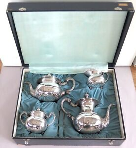 Japanese-Mid-Century-Export-Sterling-Silver-Five-Piece-Tea-Coffee-Set-2416-g