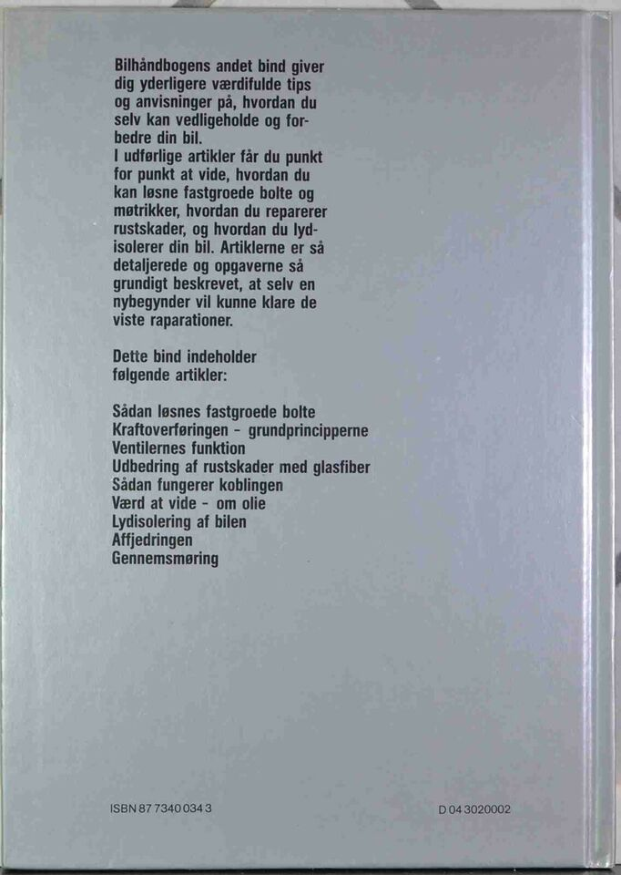 Reparationshåndbog, Bilhåndbogen Bind 1-2-3-4-5 - Gør