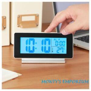 Detalles de Reloj digital nuevo de Ikea filmisTermómetroAlarma NegroPlata + 2 Baterías Gratis ver título original