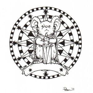 David-Petersen-Mouse-Guard-Wristwatch-Sticker-Design-Original-Comic-Art