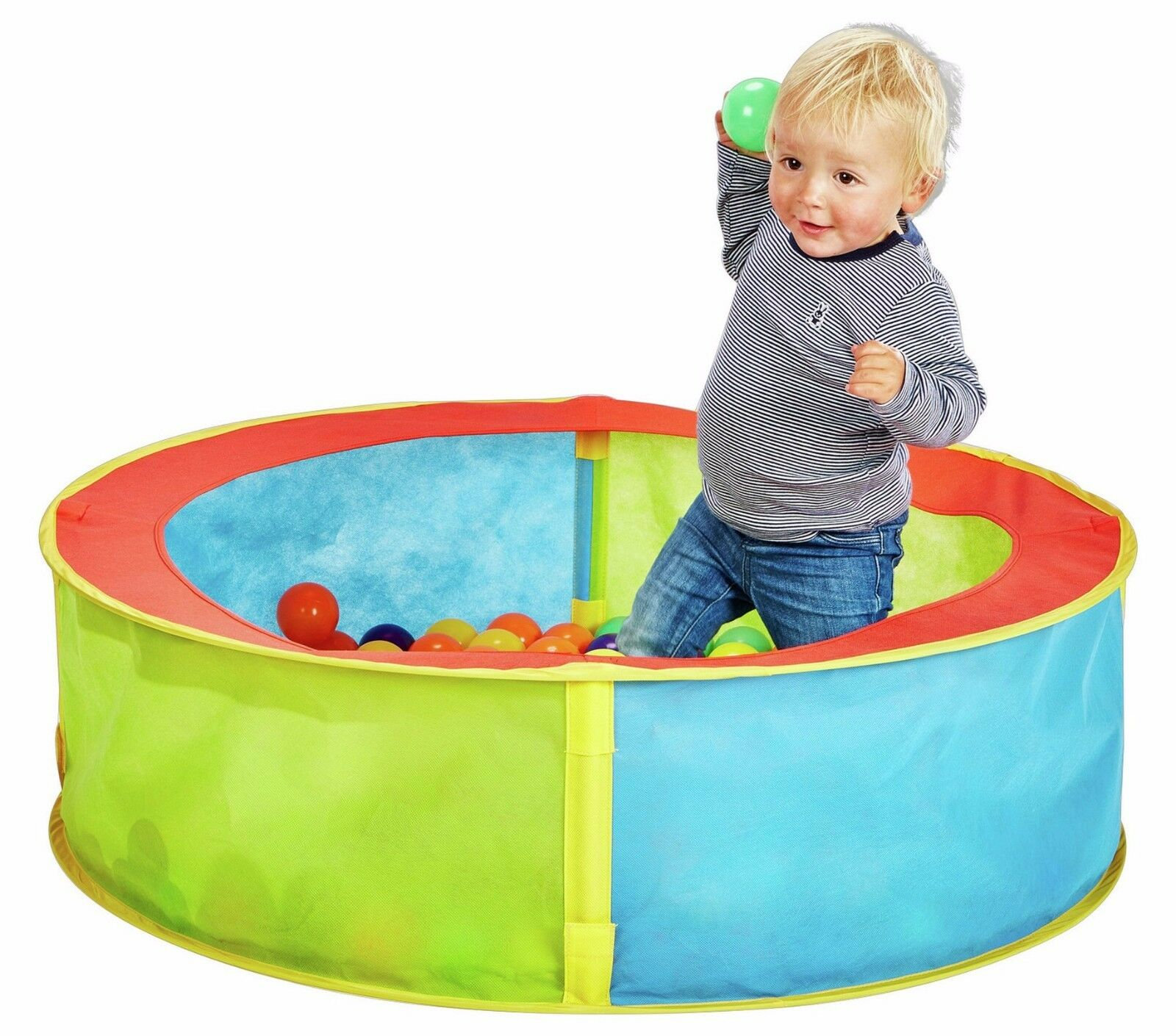 new arrival 457fe 12241 Tesco Pop up Ball Pit Round Easy Assembly Indoor / Outdoor 80x23cm