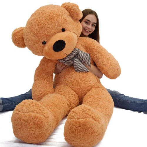 4 Foot Light Brown Giant Huge Teddy Bear Cute Stuffed Plush Animals Toy Doll 47/""
