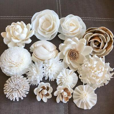 Shrub Rose 4 cm Sola Flowers Wood Aroma Diffuser Spa DIY Craft Bride Bouquet