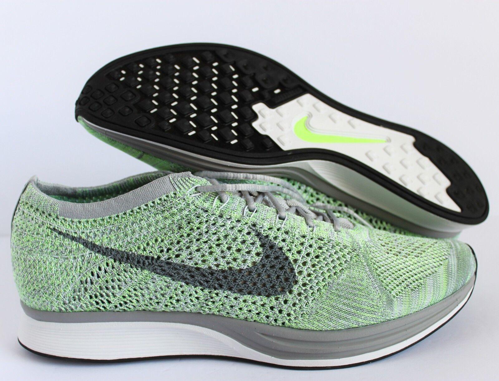 nike grüne flyknit racer white-cool grey-ghost grüne nike sz 13 [526628-103] cc8c3e