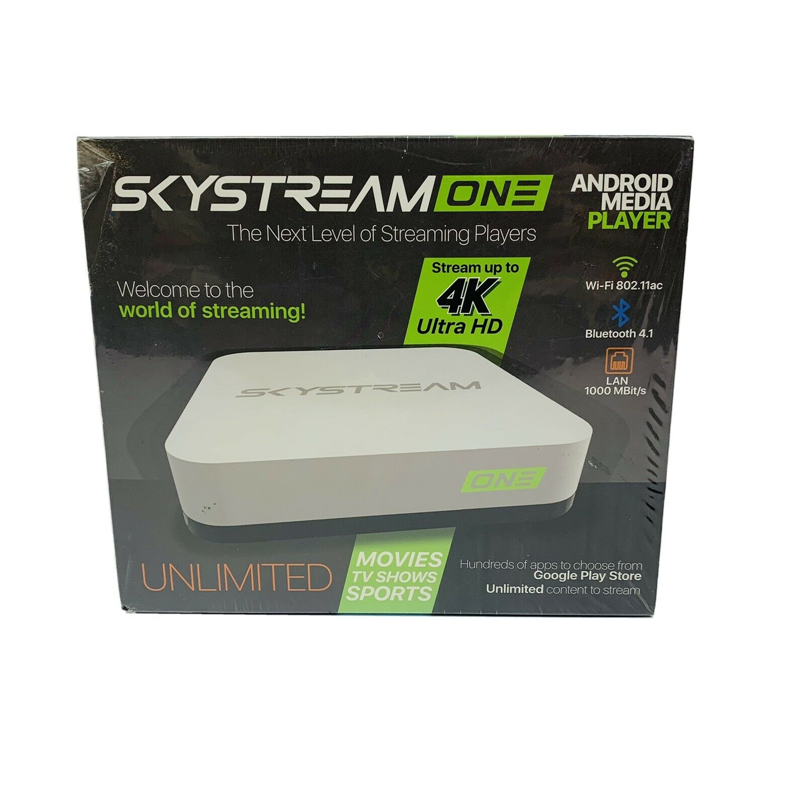 SkyStream ONE Streaming Media Player White media one player skystream streaming white