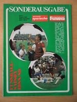 SPORTECHO FUWO SONDERAUSGABE 1988 - 1989 5* DDR Fußball Oberliga Niederlande
