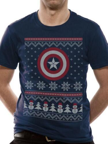Captain America Civil War Fair Isle T-Shirt Officially Licensed Unisex