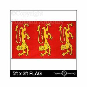 King Richard 1St Flag 5Ft X 3Ft Lionheart Royal Standard Banner With 2 Eyelets