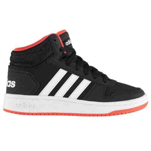 adidas Hoops Mid 2.0 High Top Sneakers Youngster Boys Laces Fastened Padded
