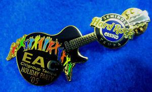 Tampa-Casino-Eac-Citigroup-Vacaciones-Fiesta-Guitarra-Rainbow-Hard-Rock-Cafe-Pin