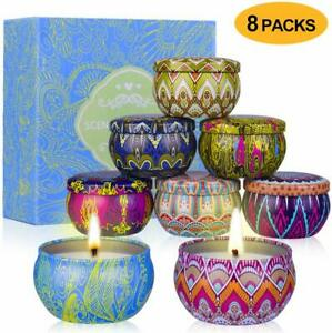 Supersun 8 Scented Candles Gift Set Rose Lavender Soy Wax Aromatherapy Candles Ebay