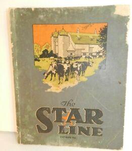 vtg 1929 STAR LINE Dairy Cattle FARM equipment CATALOG Barn plans design book