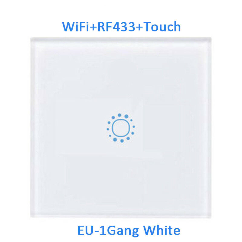 Smart 1/2/3 Gang EU Panel Glass Touch LED Light Switch Wifi,Remote,Dimmer Switch 7