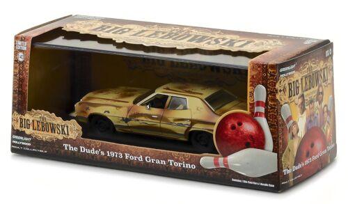 Greenlight 86495 1:43 Scale Big Lebowski The Dude/'s 1973 Ford Gran Torino