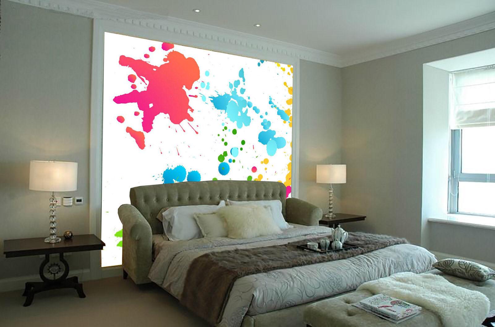 3D Aquarellfarbe 754 Tapete Wandgemälde Tapete Tapeten Bild Familie DE Summer
