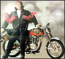 Tejer patrón copia muñecas ropa action man moto traje motociclista Gear 4 capas