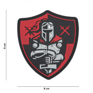 Morale-Patch-3D-PVC-Knight-shield-red-AIRSOFT-SOFTAIR-crusader-11139