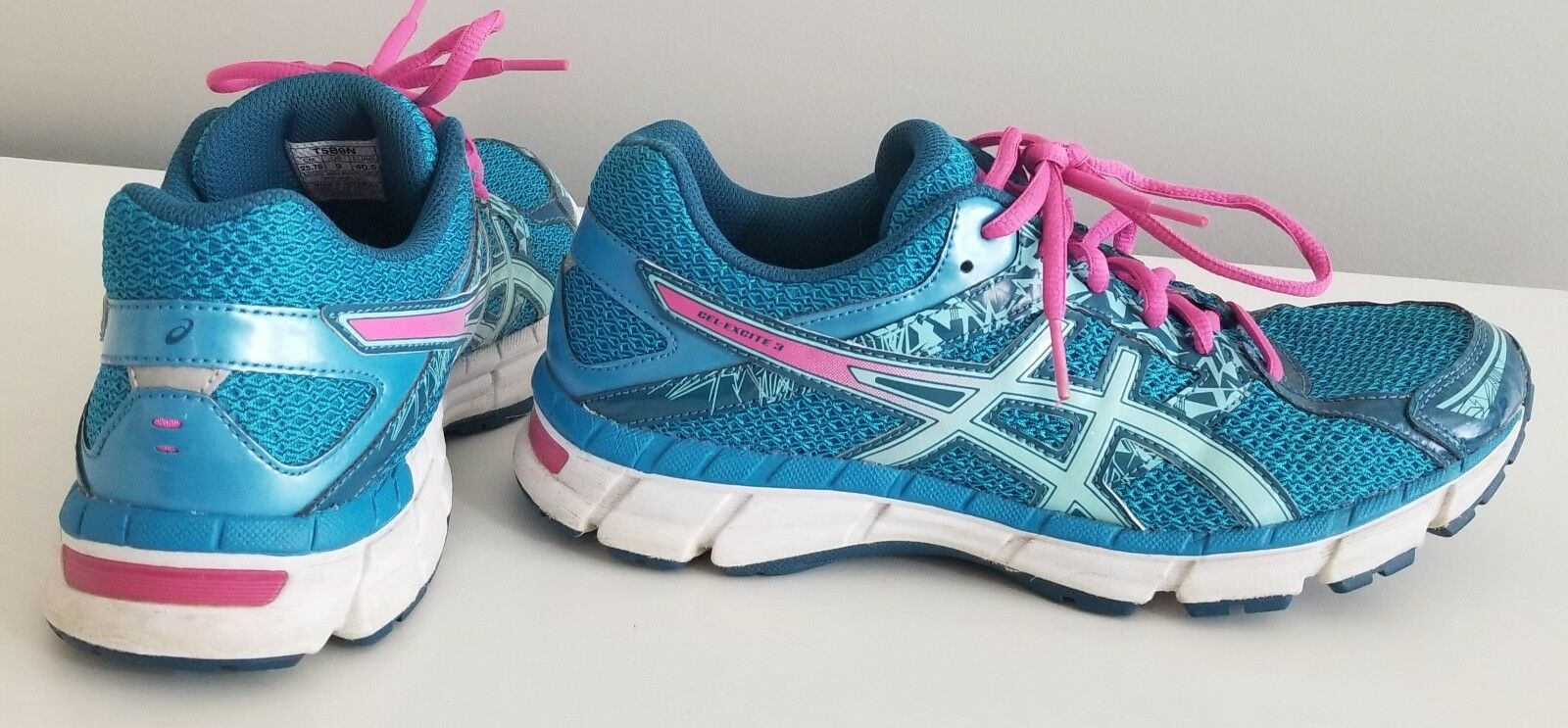 Asics Women's Gel‑Excite 3 Running Shoes Blue/Pink Comfortable Wild casual shoes