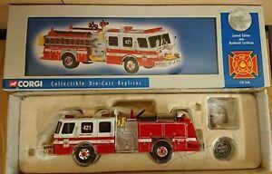 LibéRal Corgi Us52208 E-one Sidemount Fire Truck Fairfax County Ltd Ed. No 0001 De 4000-afficher Le Titre D'origine CaractèRe Aromatique Et GoûT AgréAble