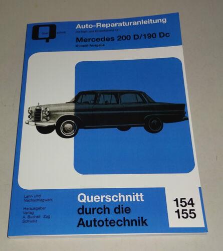 190 Dc-DIESEL Modèle 200 D Réparation Instructions Mercedes-Benz W 110 Aileron Arrière