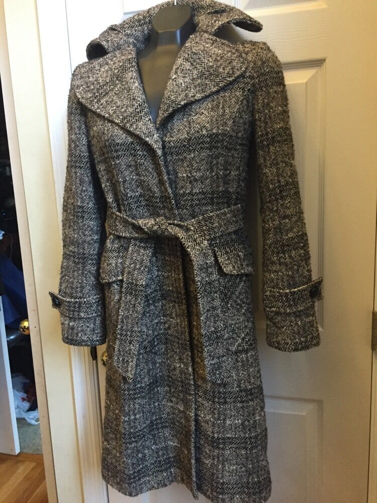 Kenneth Cole Reaction Wool Blend Coat Sz 4