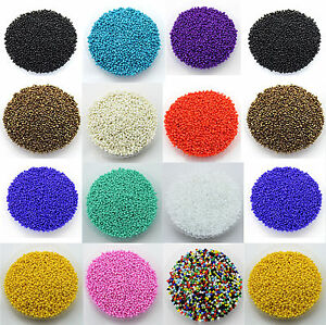 30g-2MM-Opaque-Glass-Seed-Beads-Jewellery-Making-Finding-Craft