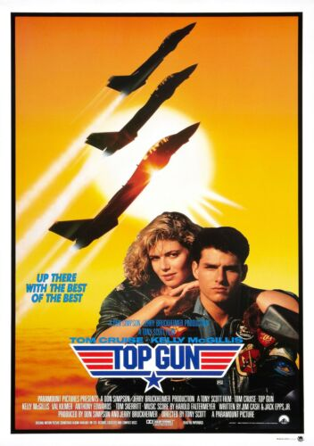 TOP GUN MOVIE POSTER FILM A4 A3 ART PRINT CINEMA