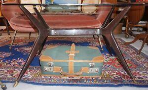 Tavolino Salotto Milano.Dettagli Su Anni 50 Tavolino Da Salotto Cassina Milano Vintage Legno E Cristallo Fume
