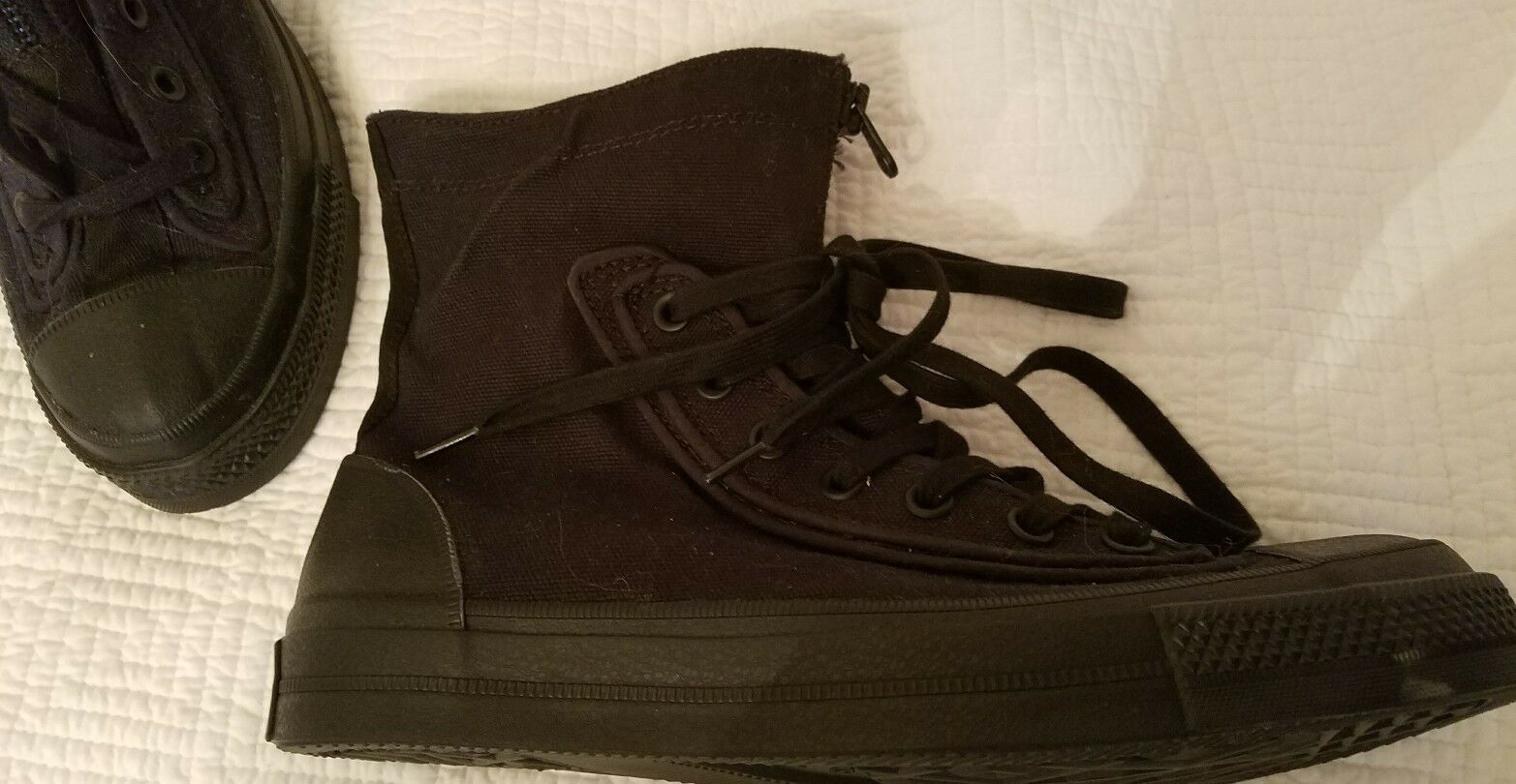 Converse CT AS Front Zip Heavyweight Canvas black Fold  High Tops Men 8 Wo 10