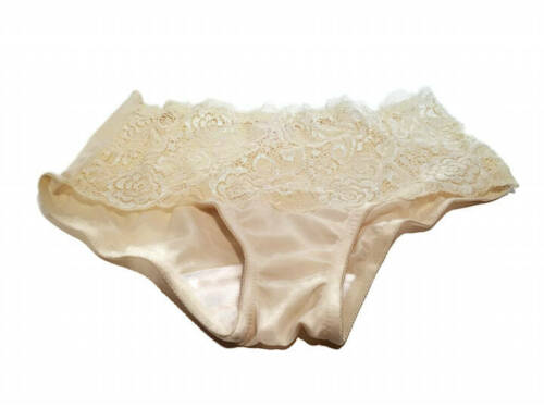Details about  /Breezies Wide Band Lace Hipster Panties Champagne Navy Black Antique Rose S M L