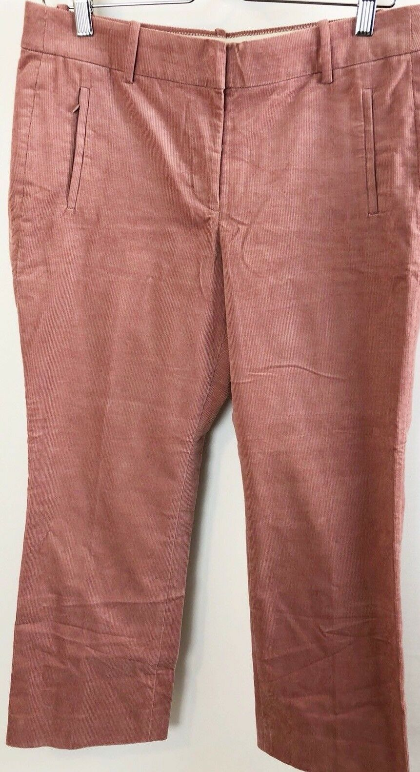 J. Crew Sammie Women's Pants Curduroy Size 8 Pale Pink red Cropped Ankle