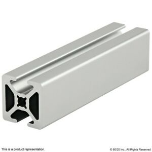80-20-Inc-10-Series-Two-Opp-Smooth-TSlots-Aluminum-Extrusion-1004-S-x-24-034-Long-N
