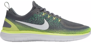 Men's Nike Free RN Distance 2 Running shoes, 863775 008 Size 14 Grey Volt