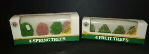 LOT-Bachmann-Fruit-amp-Spring-Trees-HO-Train-Scale-vintage-collectable-Scented