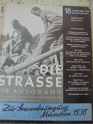 24323 Die Strasse. Die Autobahn 18 1938 2. Septemberheft Reichsautobahn