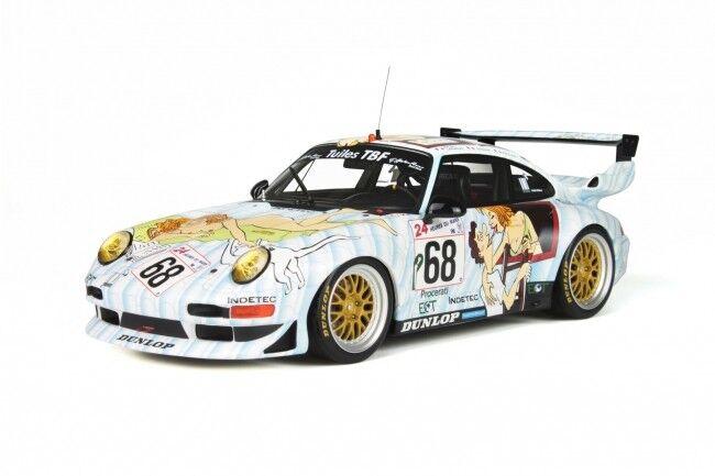 Porsche 911 993 gt2 Le Mans 1998  68 NAKED LADY RAR GT SPIRIT résine 1 18